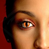 Orange Cat Eye Contact Lenses