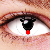 Red Nosed Reindeer Contact Lenses