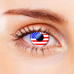 American Flag Contact Lenses