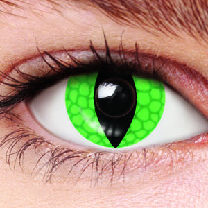 Green Lizard Contact Lenses