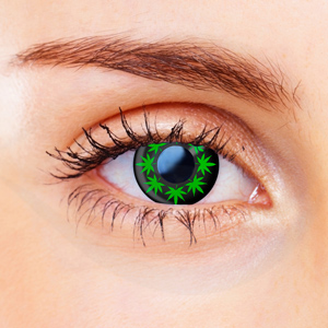 Small Cannabis Leaf Contact Lenses
