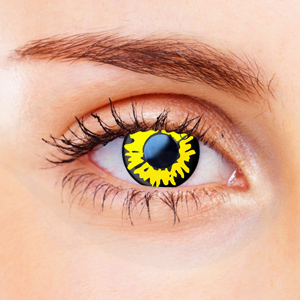 Yellow Werewolf Contact Lenses